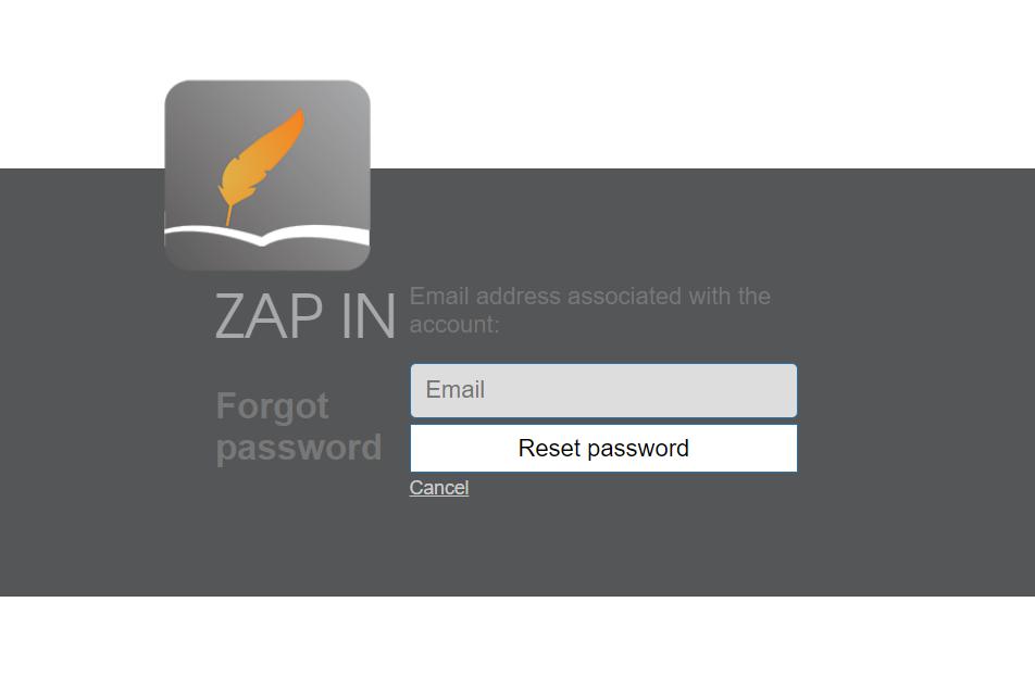 Zap in visitor management system login
